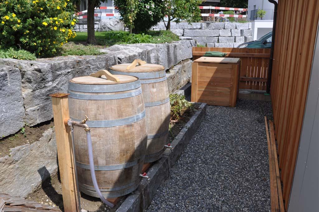 Regenwasser und Garagenverkleidung
