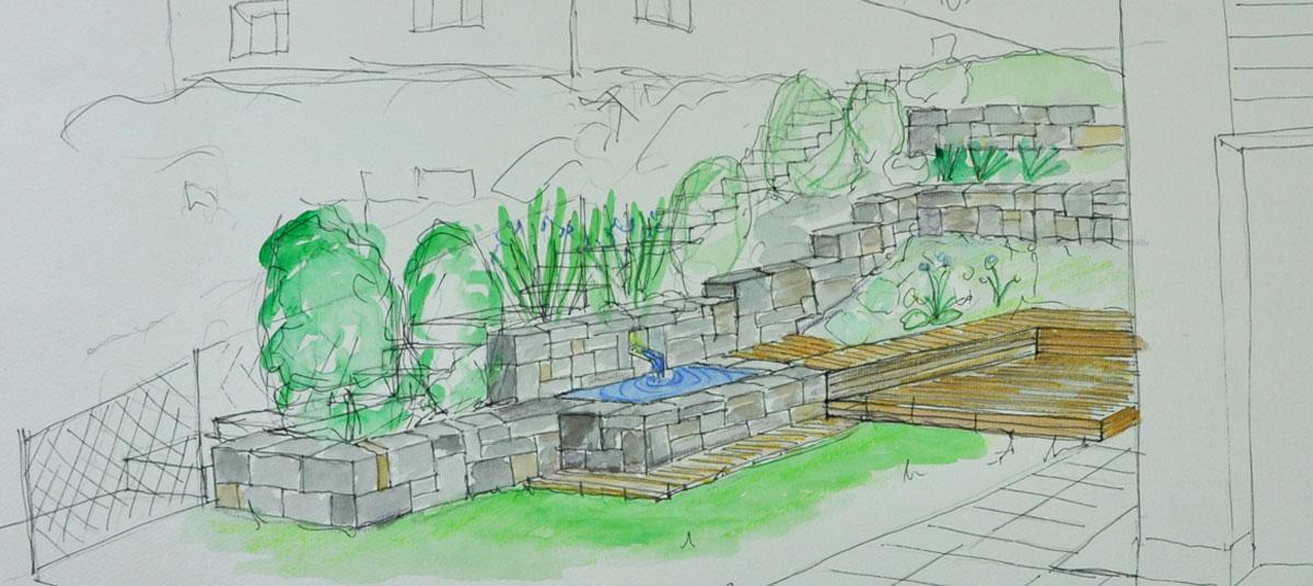 Gartengestaltung Brunnenbau